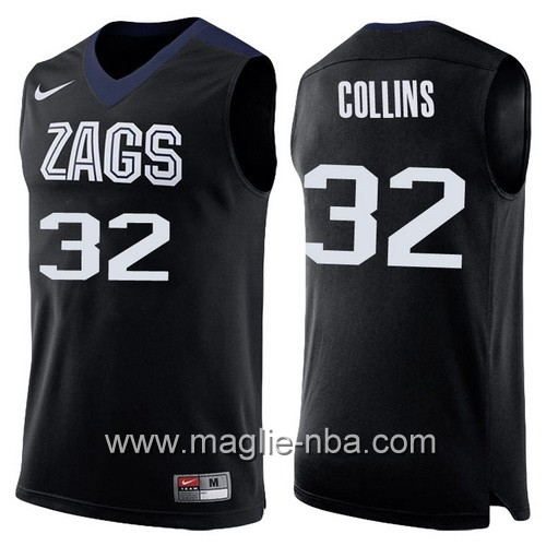 Canotte NCAA 2017 Final Four Gonzaga Bulldogs Zach Collins #32 nero