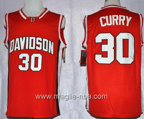 Canotte basket NCAA Davidson Wildcat Stephen Curry #30 rosso