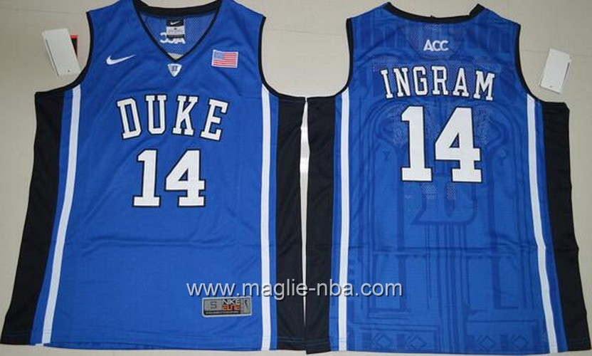 Canotte basket NCAA Duke Blue Brandon Ingram #14 blu