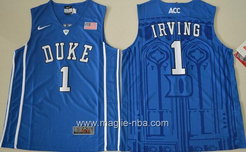 Canotte basket NCAA Duke Blue Kyrie Irving #1 blu