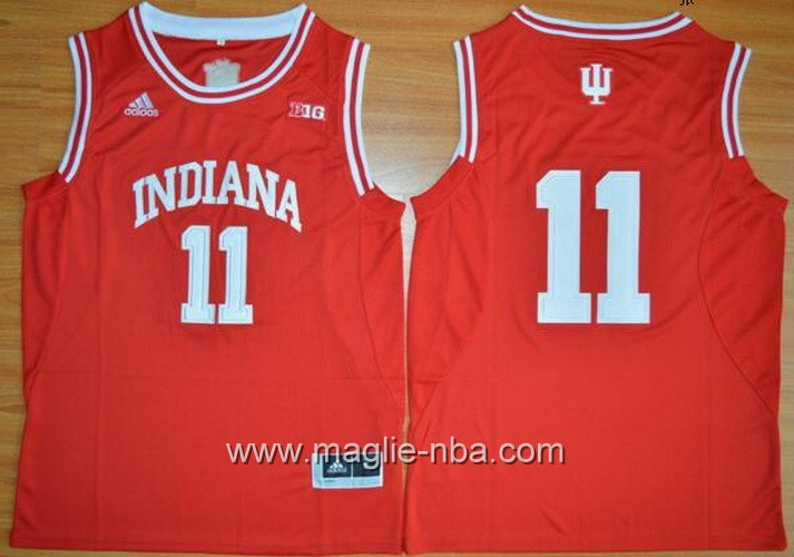 Canotte basket NCAA Indiana Hoosiers Isiah Thomas #11 rosso