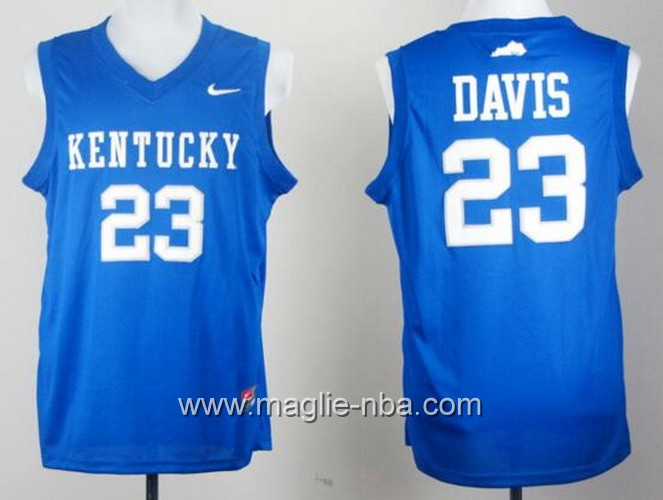 Canotte basket NCAA Kentucky Wildcats Anthony Davis #23 blu