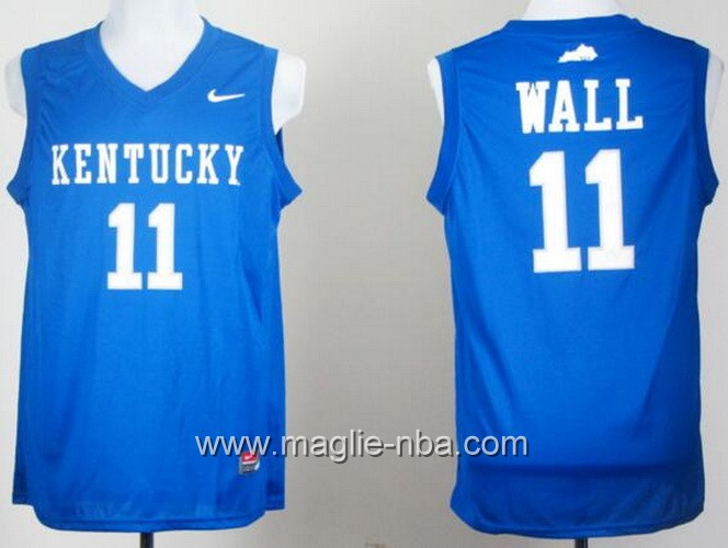 Canotte basket NCAA Kentucky Wildcats John Wall #11 blu