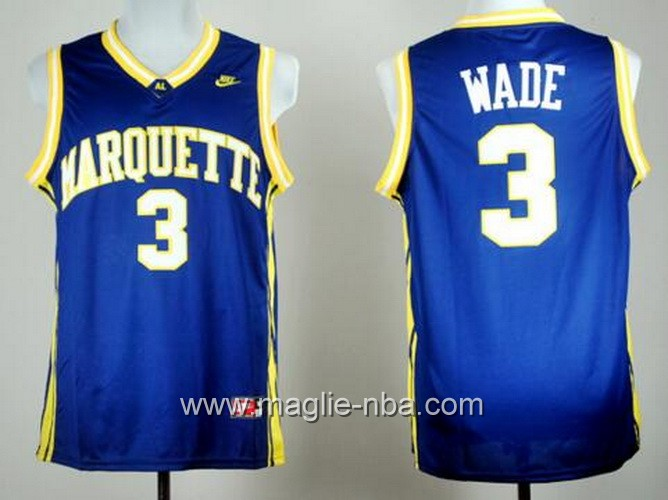 Canotte basket NCAA Marquette Golden Eagles Dwyane Wade #3 blu
