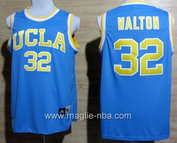 Canotte basket NCAA UCLA Bruins Bill Walton #32 blu