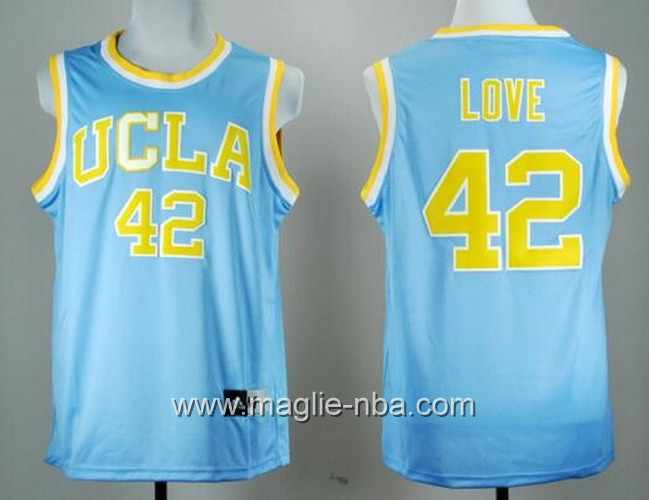 Canotte basket NCAA UCLA Bruins Kevin Love #42 blu