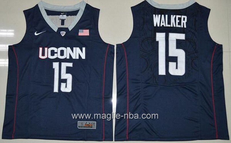 Canotte basket NCAA Uconn Huskies Kemba Walker #15 nero