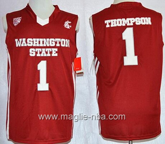 Canotte basket NCAA Washington State Cougars Klay Thompson #1 rosso