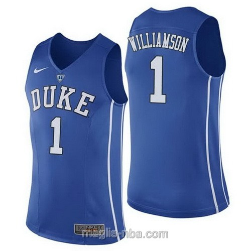 Canotte basket NCAA del Duke Blue Devils #1 Zion Williamson blu