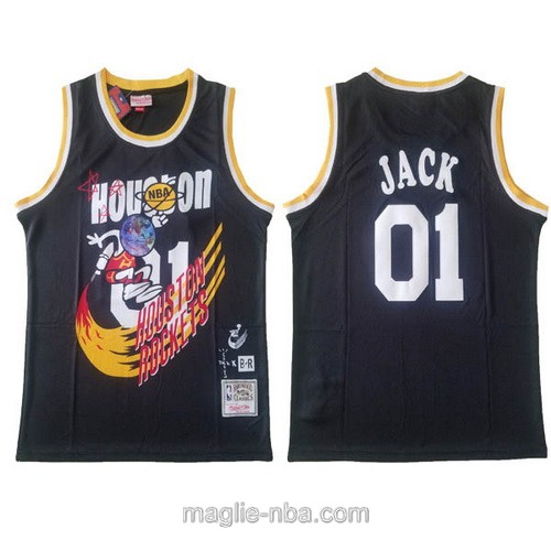 Canotte basket NCAA del Houston Rockets #01 Jack nero