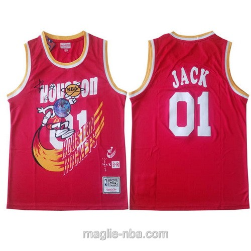 Canotte basket NCAA del Houston Rockets #01 Jack rosso