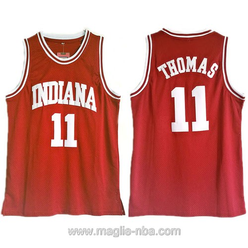 Canotte basket NCAA del Indiana Hoosiers Isaiah Thomas #11 rosso