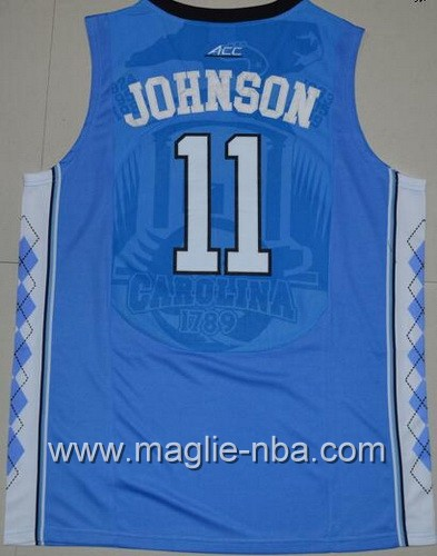 Canotte basket NCAA del North Carolina Tar Heels Brice Johnson #11 blu