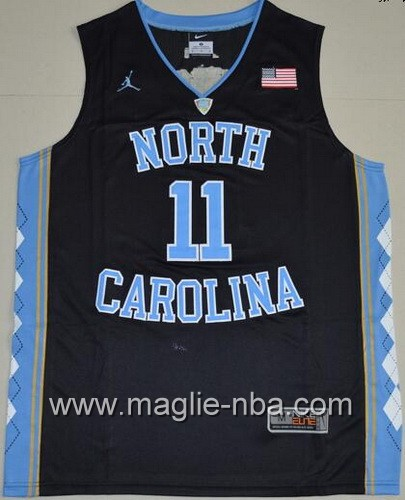 Canotte basket NCAA del North Carolina Tar Heels Brice Johnson #11 nero
