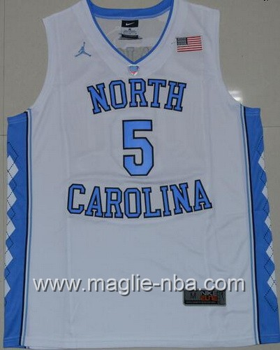 Canotte basket NCAA del North Carolina Tar Heels Marcus Paige #5 bianco