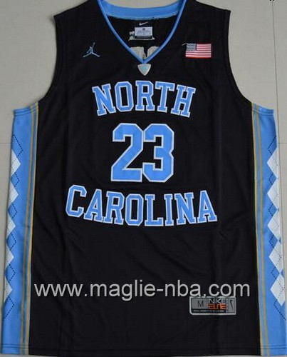 Canotte basket NCAA del North Carolina Tar Heels Michael Jordan #23 nero