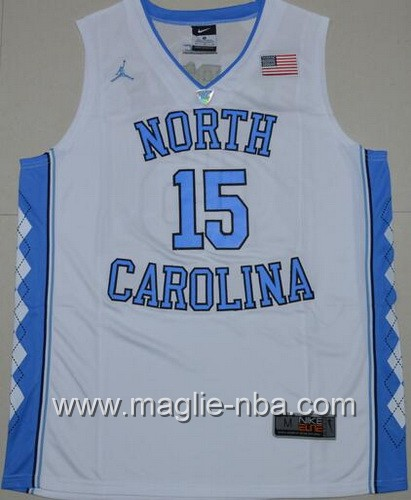 Canotte basket NCAA del North Carolina Tar Heels Vince Carter #15 bianco