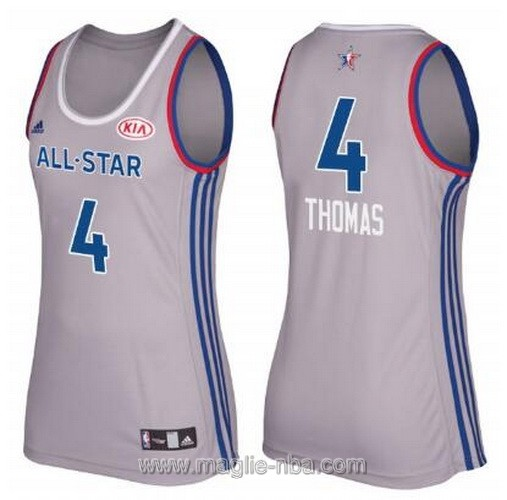 Canotte donna all star game 2017 east Isaiah Thomas #4 grigio
