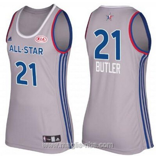 Canotte donna all star game 2017 east Jimmy Butler #21 grigio
