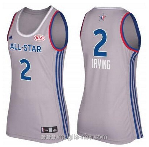 Canotte donna all star game 2017 east Kyrie Irving #2 grigio