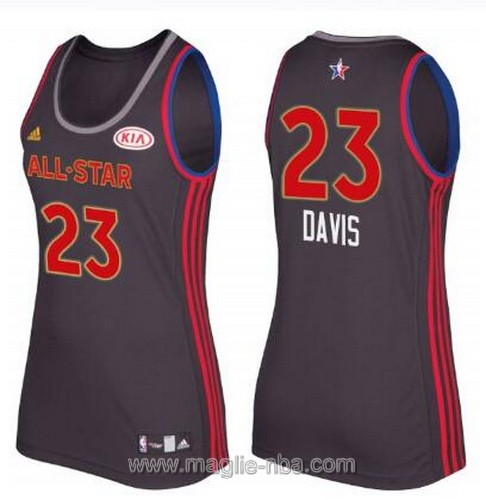 Canotte donna all star game 2017 west Anthony Davis #23 nero