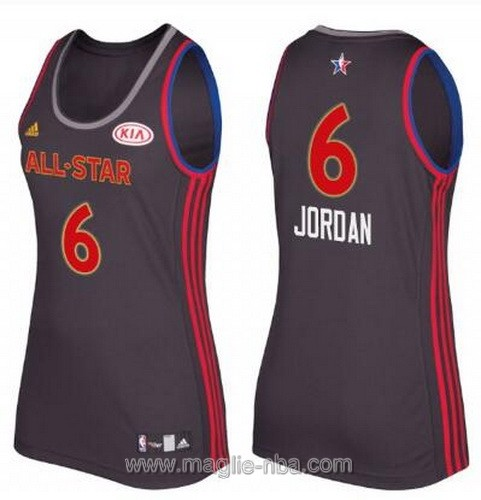 Canotte donna all star game 2017 west DeAndre Jordan #6 nero