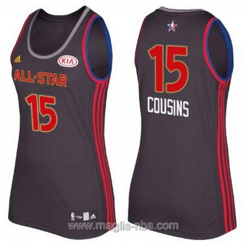 Canotte donna all star game 2017 west DeMarcus Cousins #15 nero