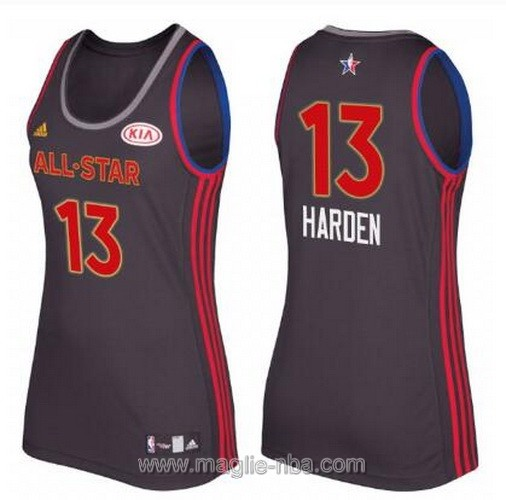 Canotte donna all star game 2017 west James Harden #13 nero
