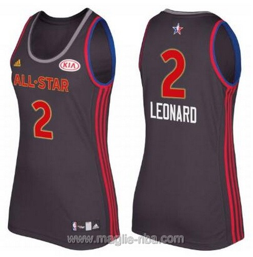 Canotte donna all star game 2017 west Kawhi Leonard #2 nero
