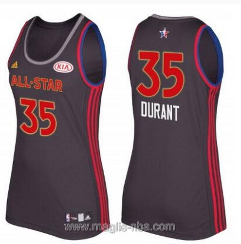 Canotte donna all star game 2017 west Kevin Durant #35 nero
