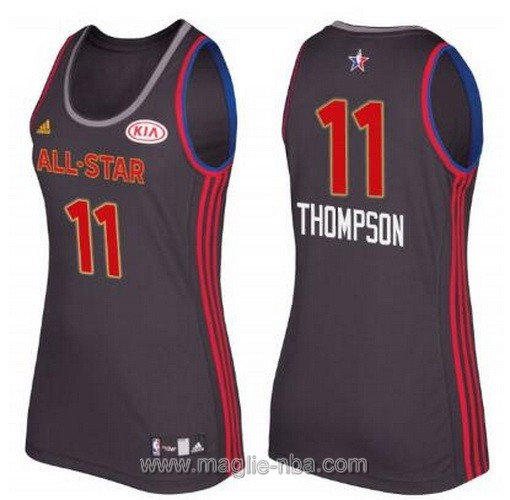Canotte donna all star game 2017 west Klay Thompson #11 nero
