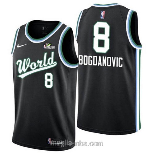 Canotte nba all star Nova Challenge game 2019 Bogdan Bogdanovic #8 World nero
