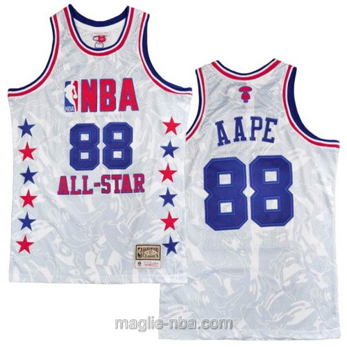 Canotte nba All Star Game 1988 MITCHELL & NESS AAPE #88 bianco