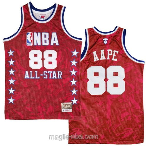 Canotte nba All Star Game 1988 MITCHELL & NESS AAPE #88 rosso