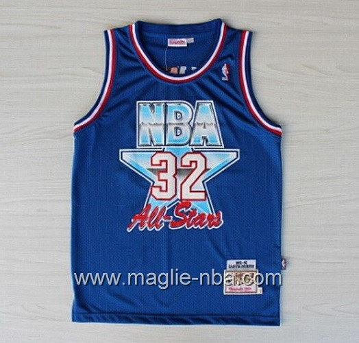 Canotte nba All Star Game 1992 Magic Johnson #32 blu