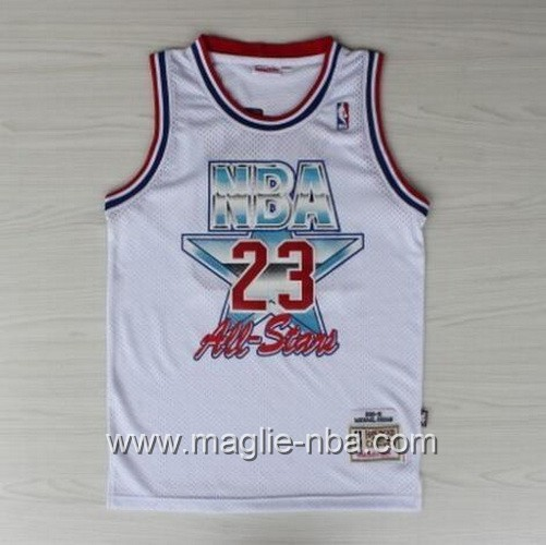 Canotte nba All Star Game 1992 Michael Jordan #23 bianco