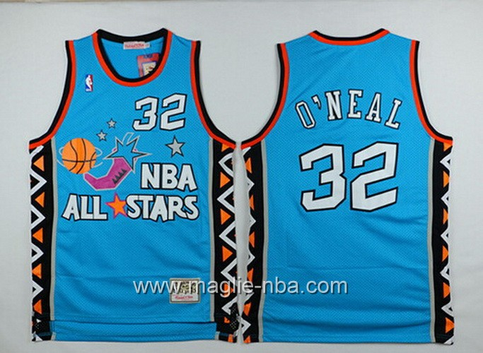 Canotte nba All Star Game 1996 Shaquille O'Neal #32 blu