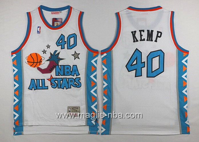 Canotte nba All Star Game 1996 Shawn Kemp #40 bianco