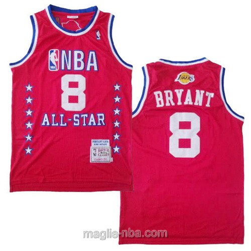 Canotte nba all star game 2003 Kobe Bryant #8 rosso