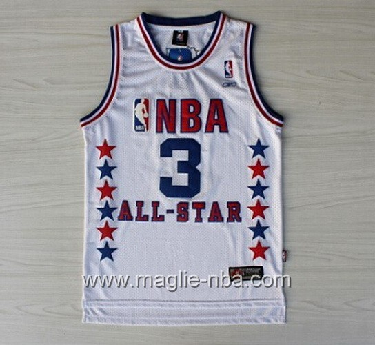 Canotte nba All Star Game 2003 Kyrie Irving #3 bianco