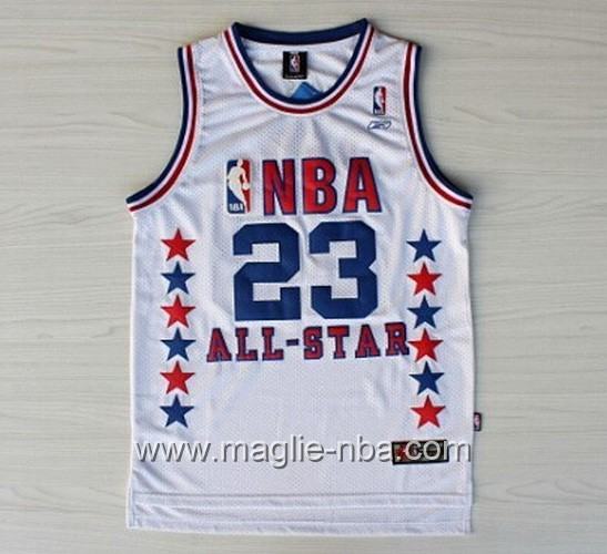 Canotte nba All Star Game 2003 Michael Jordan #23 bianco