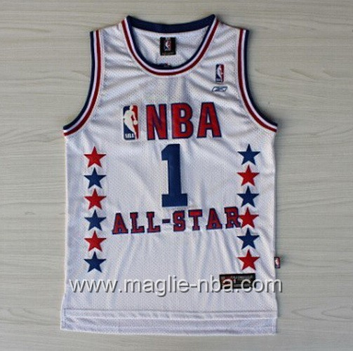 Canotte nba All Star Game 2003 Tracy McGrady #1 bianco