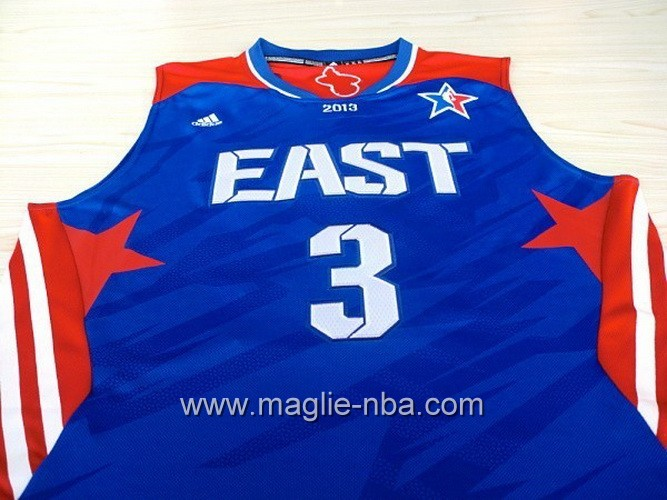 Canotte nba All Star Game 2013 East Dwyane Wade #3 blu