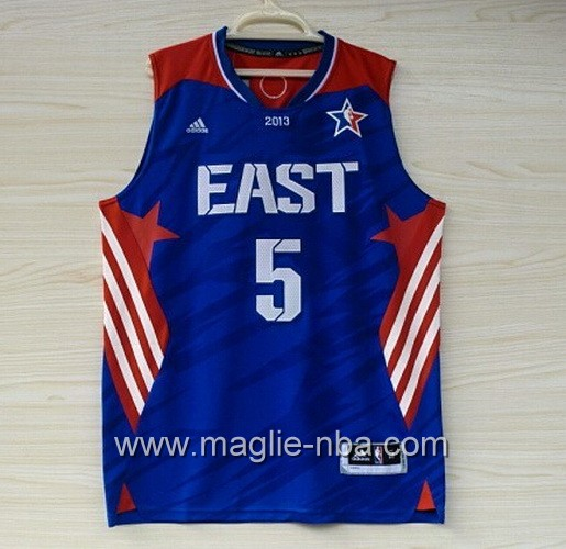 Canotte nba All Star Game 2013 East Kevin Garnett #5 blu