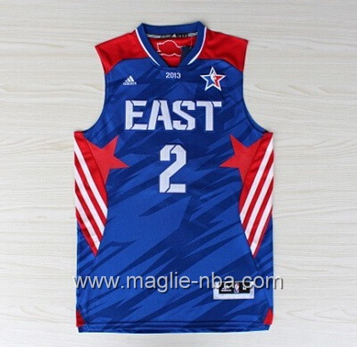 Canotte nba All Star Game 2013 East Kyrie Irving #2 blu