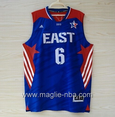Canotte nba All Star Game 2013 East LeBron James #6 blu