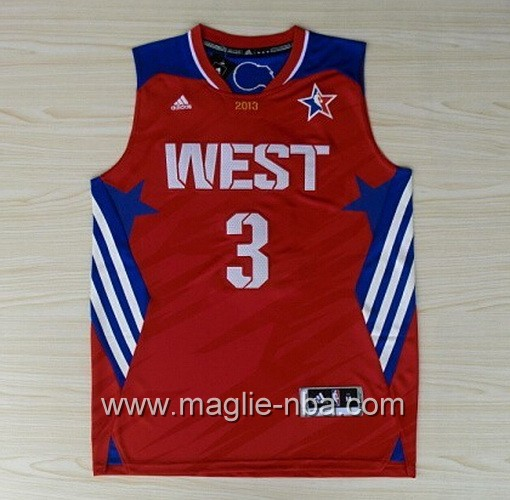Canotte nba All Star Game 2013 West Chris Paul #3 rosso