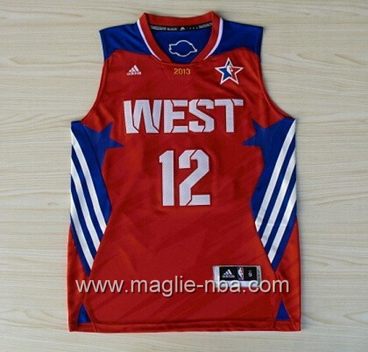 Canotte nba All Star Game 2013 West Dwight Howard #12 rosso