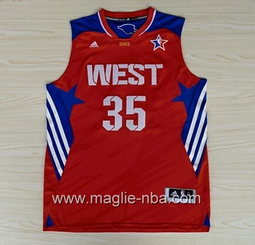 Canotte nba All Star Game 2013 West Kevin Durant #35 rosso