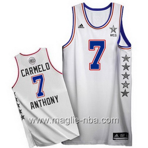 Canotte nba All Star Game 2015 Carmelo Anthony #7 bianco